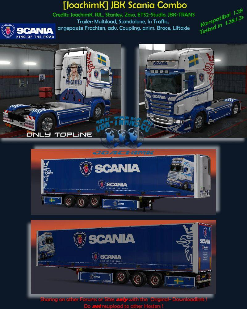 JOACHIMK] JBK-COMBO SCANIA V1 0 ETS2 -Euro Truck Simulator 2 Mods