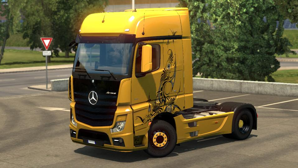 Mercedes benz actros 2014 gold tribal all versions truck for 2014 mercedes benz truck