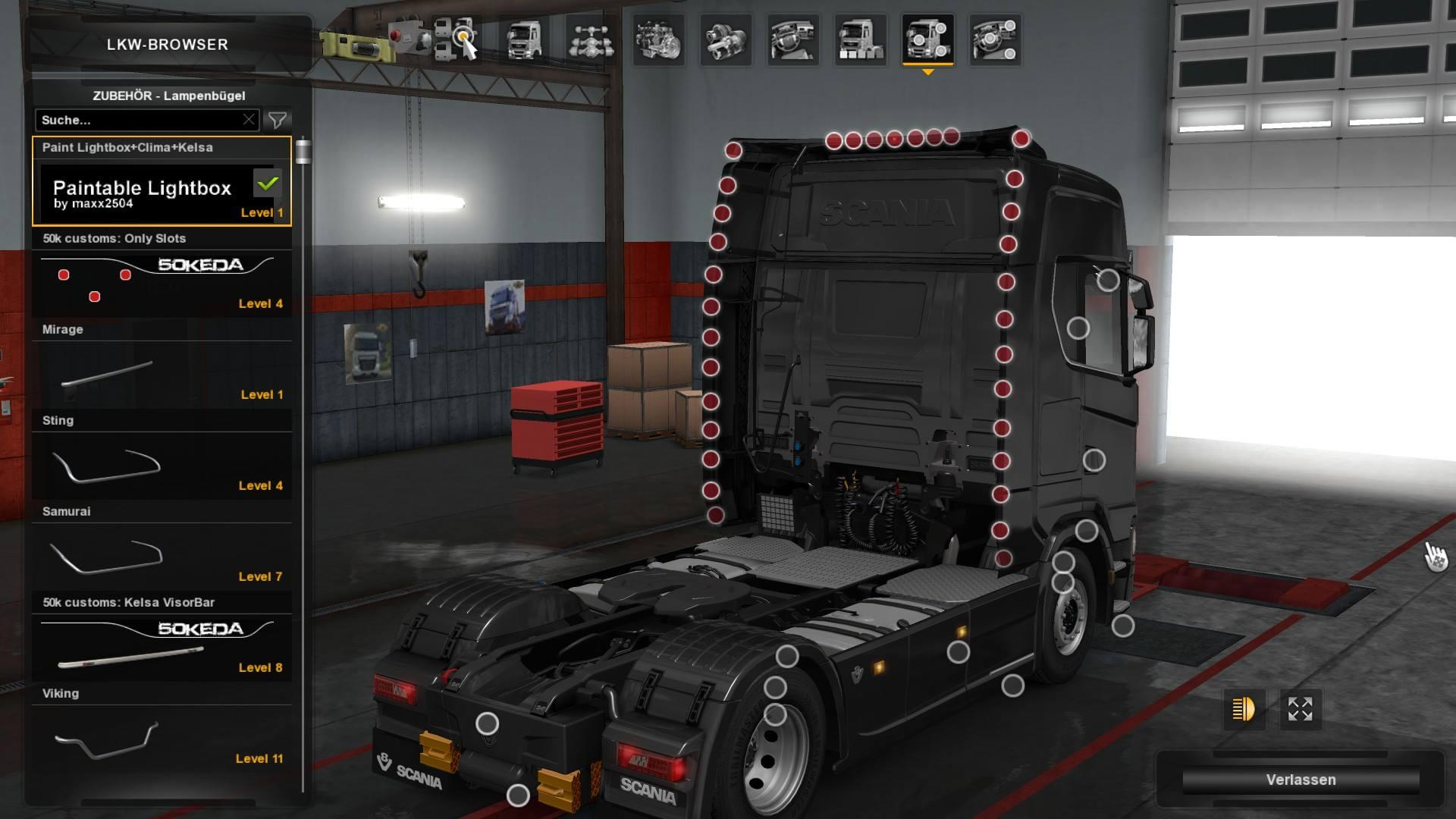 scania nextgen addons by smg tuning mod euro truck. Black Bedroom Furniture Sets. Home Design Ideas