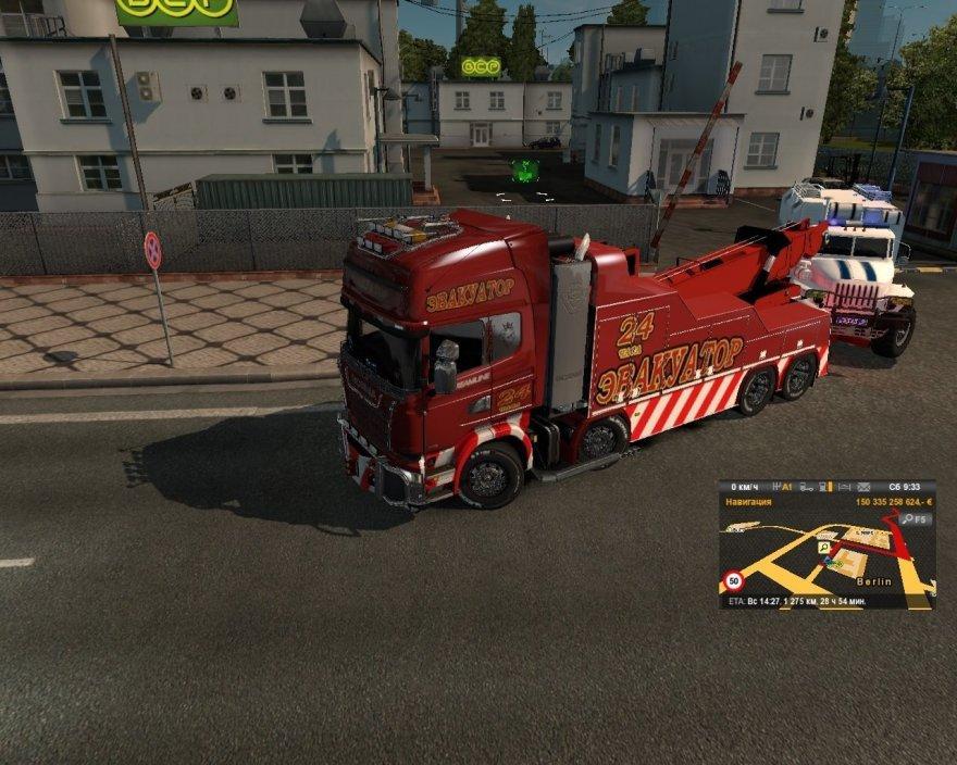 SCANIA STREAMLINE: TOW TRUCK V1 0 TRUCK MOD -Euro Truck Simulator 2 Mods