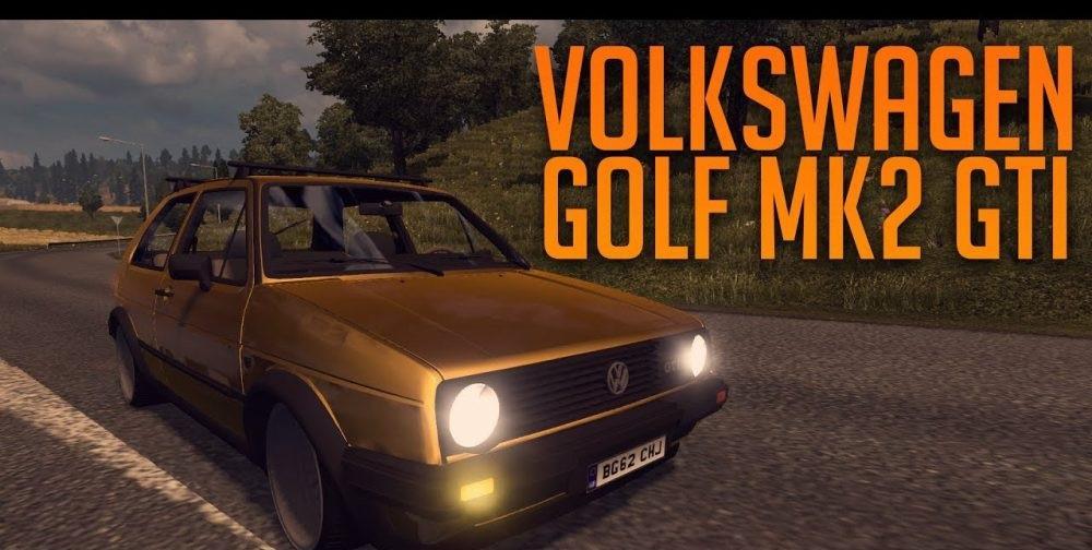 Volkswagen Golf 2 Gti 1 30 Car Mod Euro Truck Simulator 2 Mods