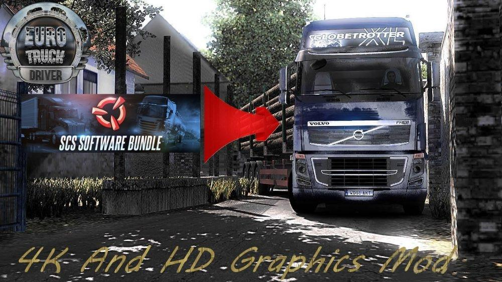 4K AND HD GRAPHICS MOD V1 0 ETS2 -Euro Truck Simulator 2 Mods