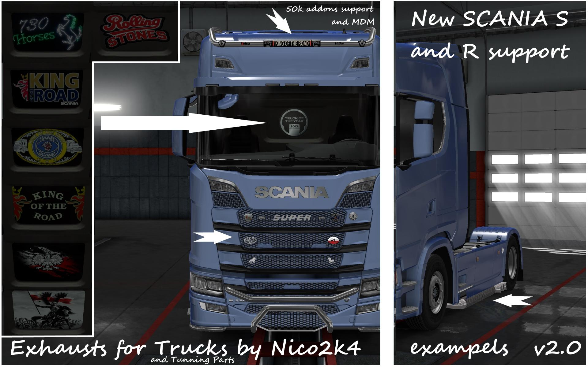 Exhausts tuning parts for trucks v2 0 1 30 tuning mod