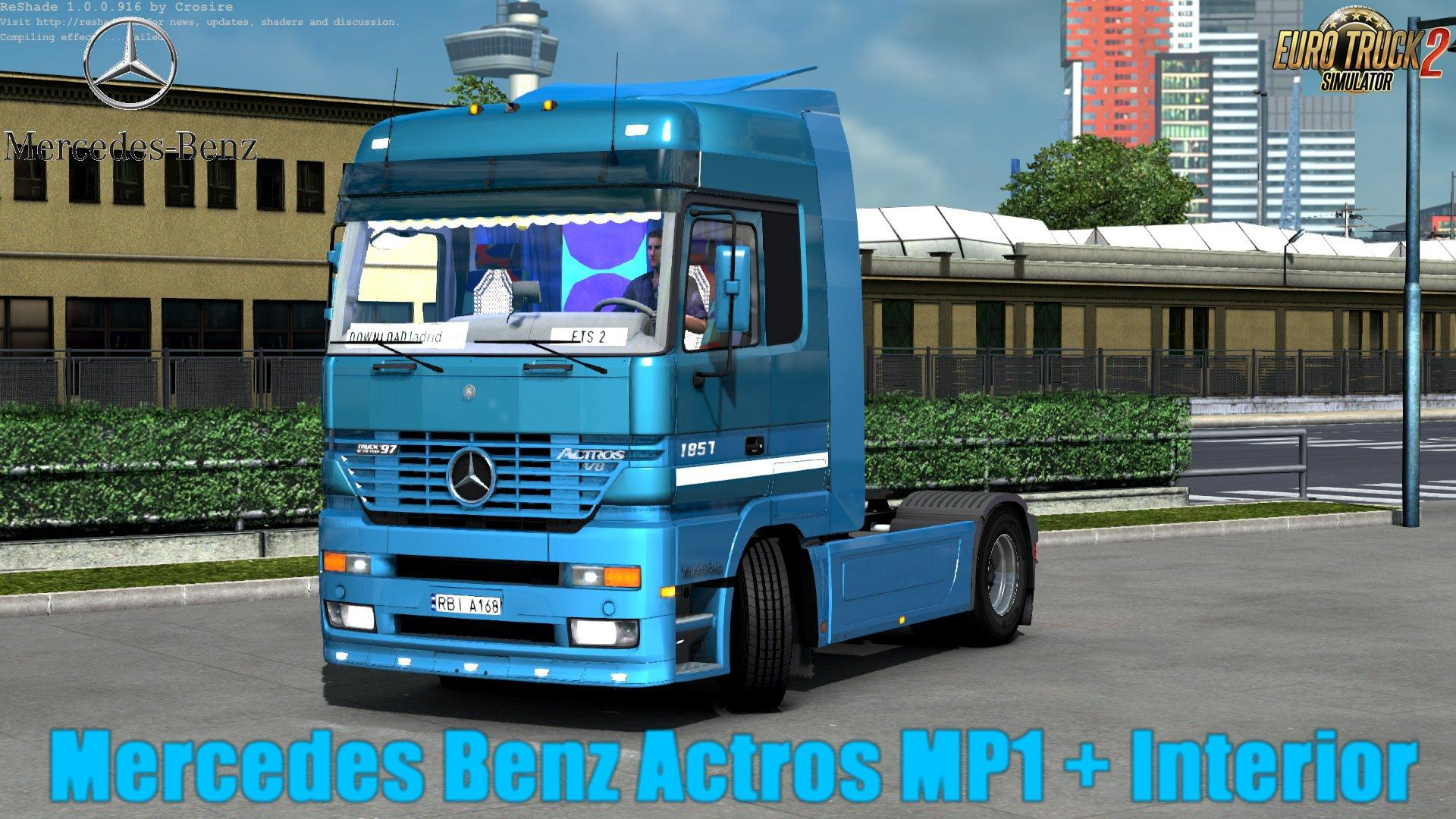 Seat Skins For Trucks >> MERCEDES ACTROS MP1 + INTERIOR (UPDATE BY KREWLEXDESINGS) [1.30.X] TRUCK MOD -Euro Truck ...