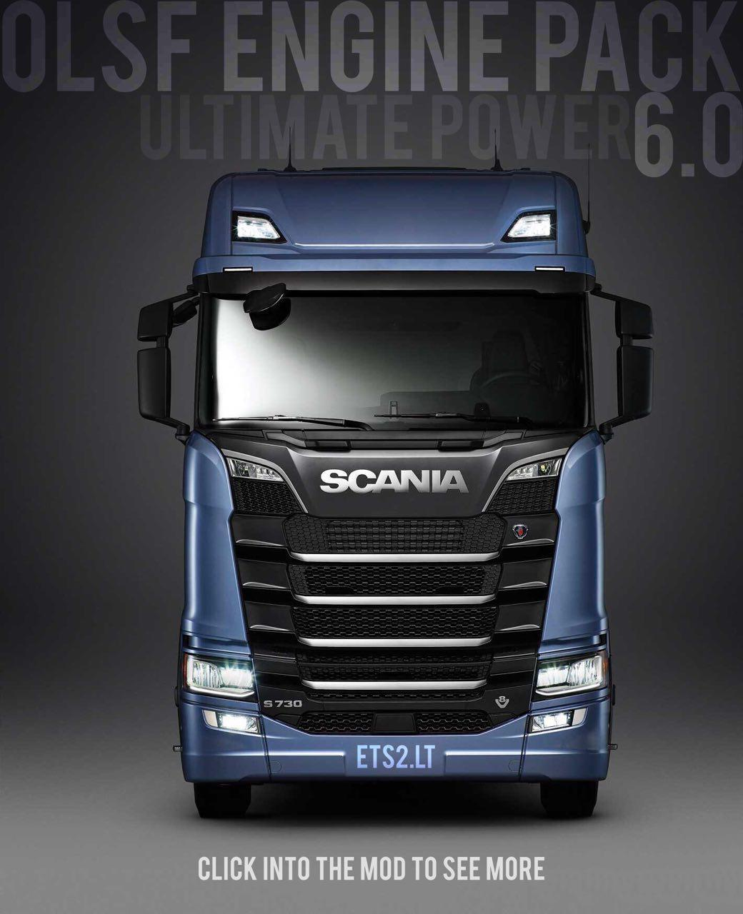 OLSF ENGINE PACK V6 0 FOR SCANIA S 2016 TUNING MOD -Euro Truck