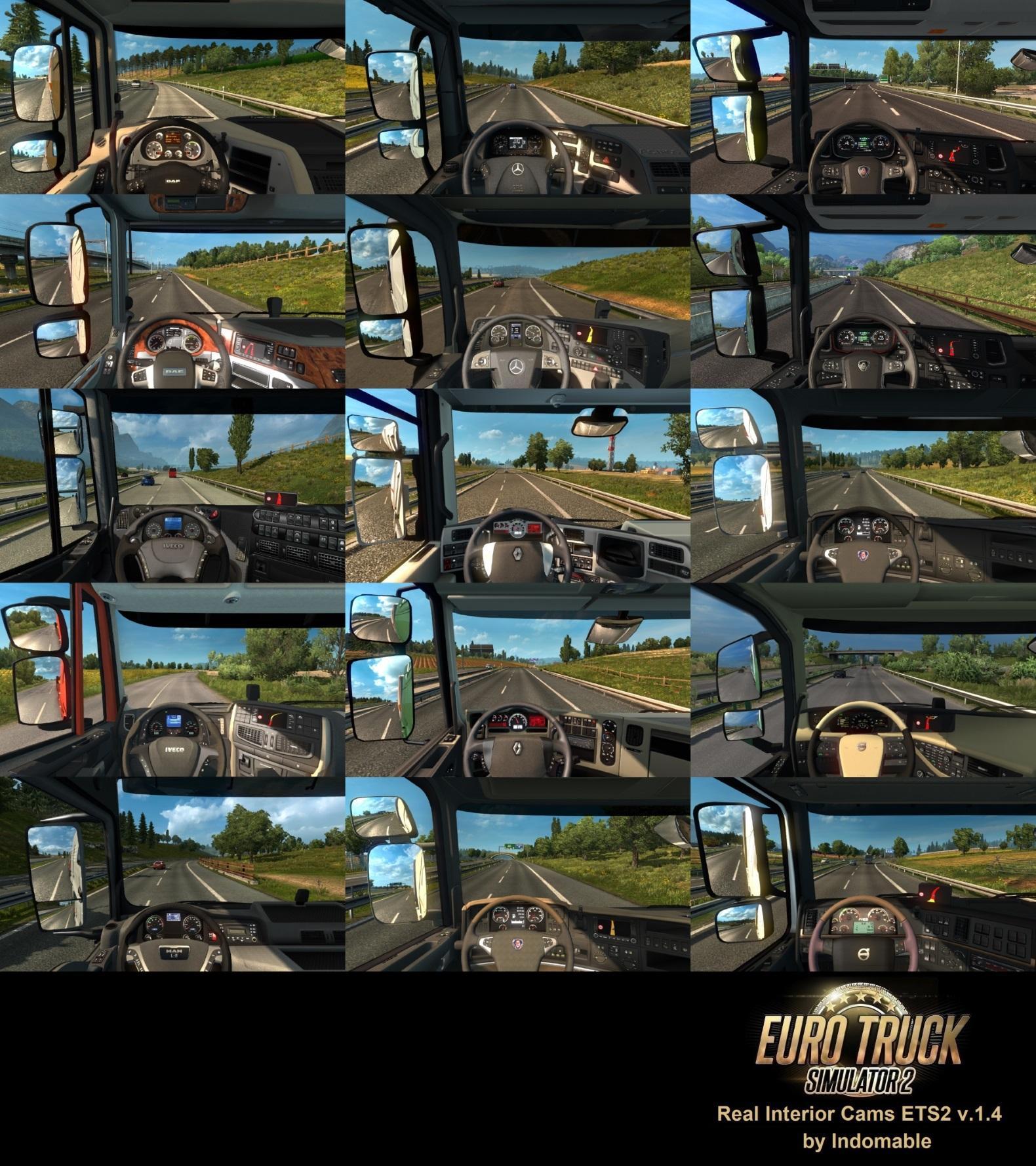 REAL INTERIOR CAMS ETS2 V1 4 1 30 X INTERIOR MOD -Euro Truck
