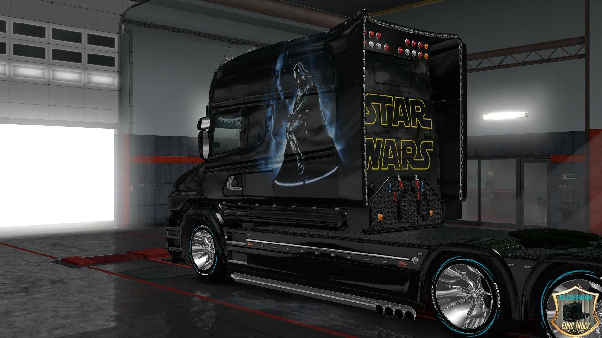 SCANIA RS LONGLINE & SCANIA T LONGLINE STAR WARS TRUCK SKIN -Euro Truck Simulator 2 Mods