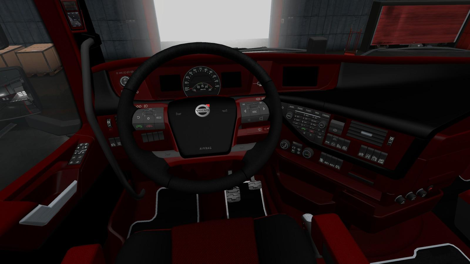 Sn Volvo Premium Leather 1 30 Interior Mod Euro Truck Simulator 2 Mods