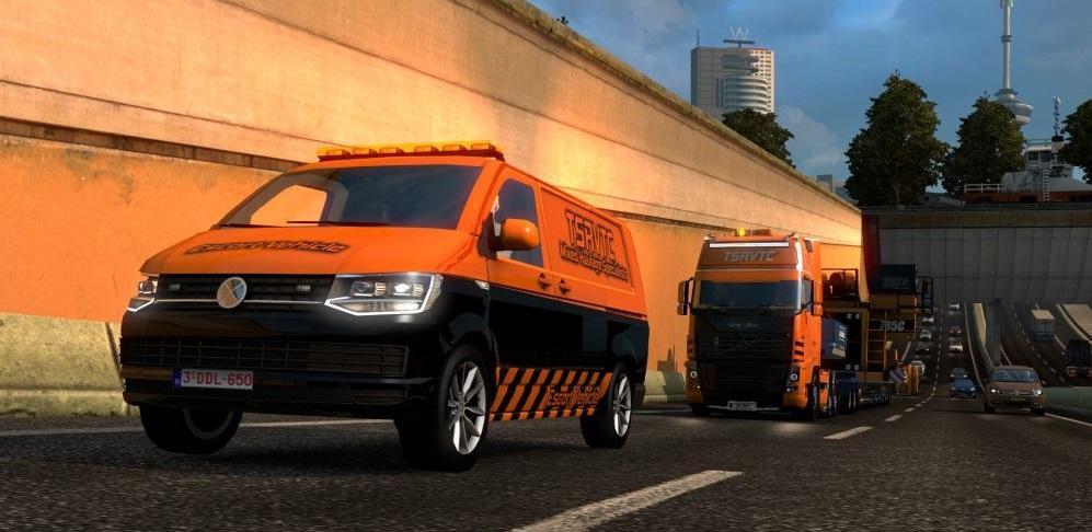 tsrvtc special transport van v1 0 mod euro truck. Black Bedroom Furniture Sets. Home Design Ideas