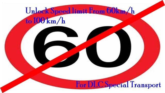 UNLOCK SPEED LIMIT AI ESCORT CAR FOR DLC SPECIAL TRANSPORT