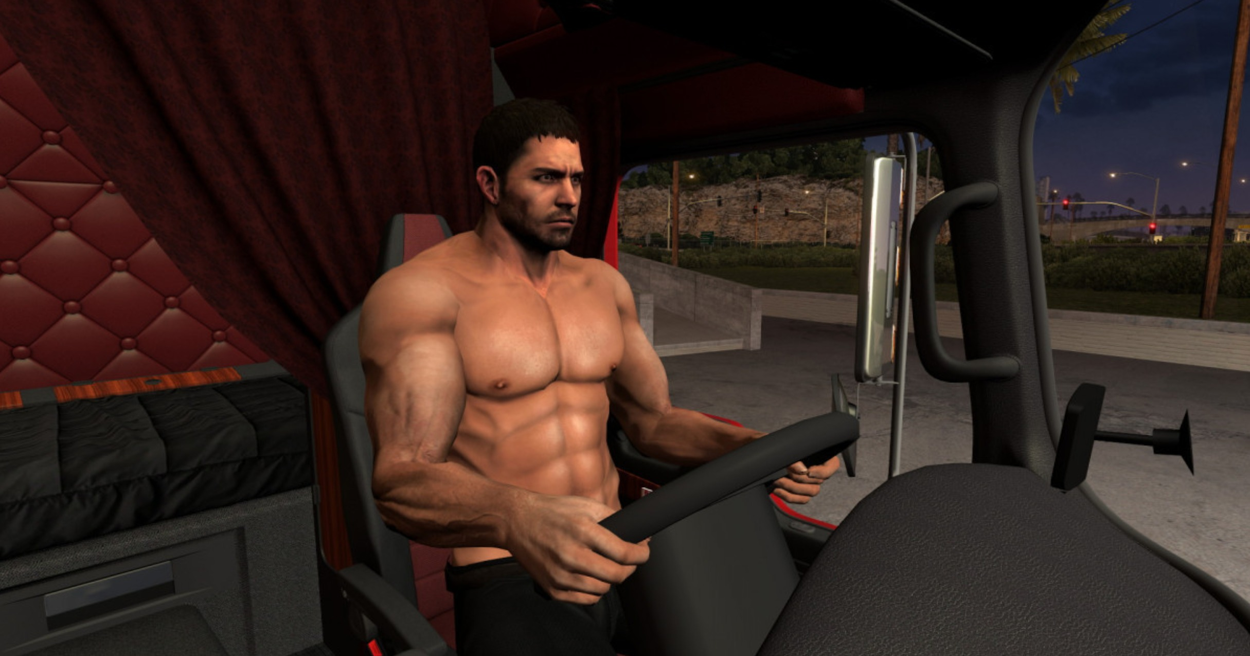 Driver Chris Redfield Ats on Kenworth
