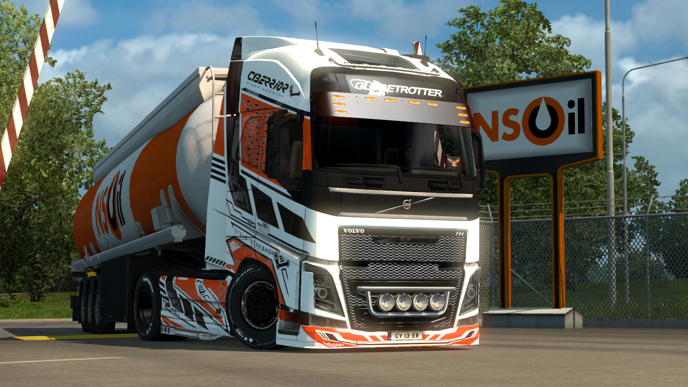 cyberrior paintjobs for volvo fh16 euro truck simulator 2. Black Bedroom Furniture Sets. Home Design Ideas