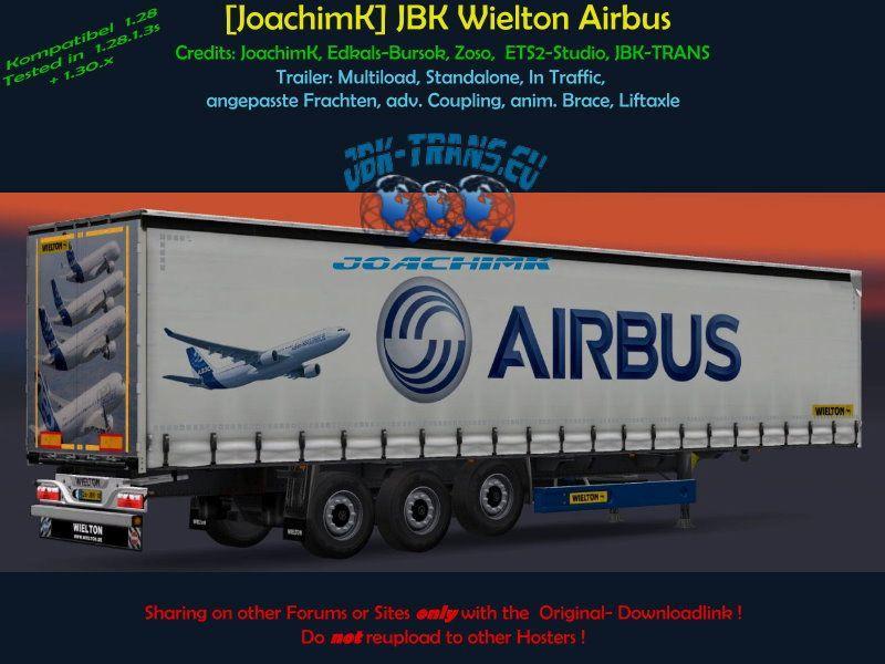 JOACHIMK] JBK WIELTON AIRBUS V1 0 TRAILER MOD -Euro Truck Simulator