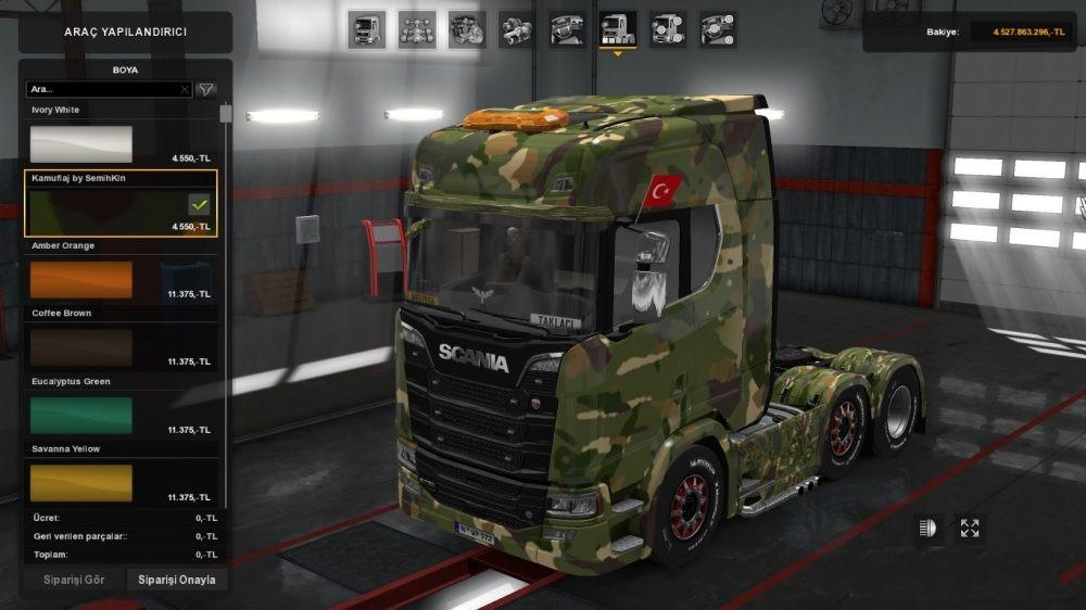 MILITARY CAMOUFLAGE SKIN FOR ALL TRUCKS ETS2 -Euro Truck