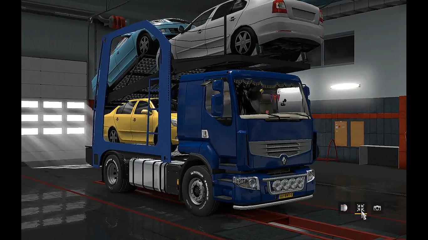 renault premium car transporter v1 0 trailer euro truck simulator 2 mods. Black Bedroom Furniture Sets. Home Design Ideas