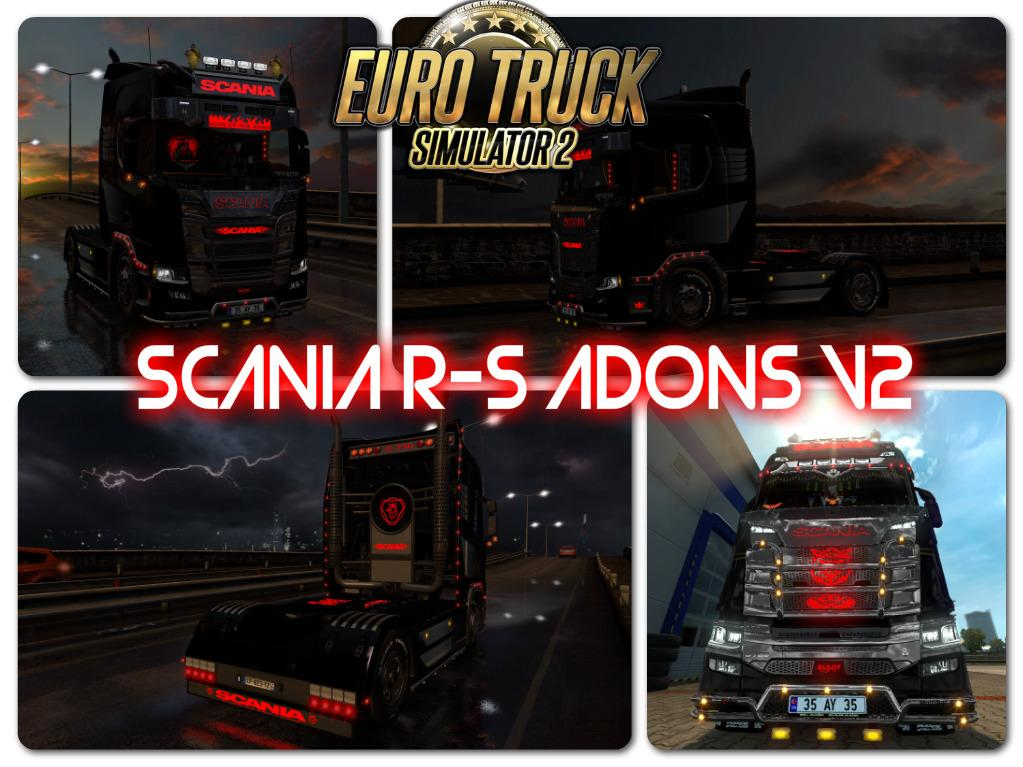 scania r s adons v2 tuning mod euro truck simulator. Black Bedroom Furniture Sets. Home Design Ideas