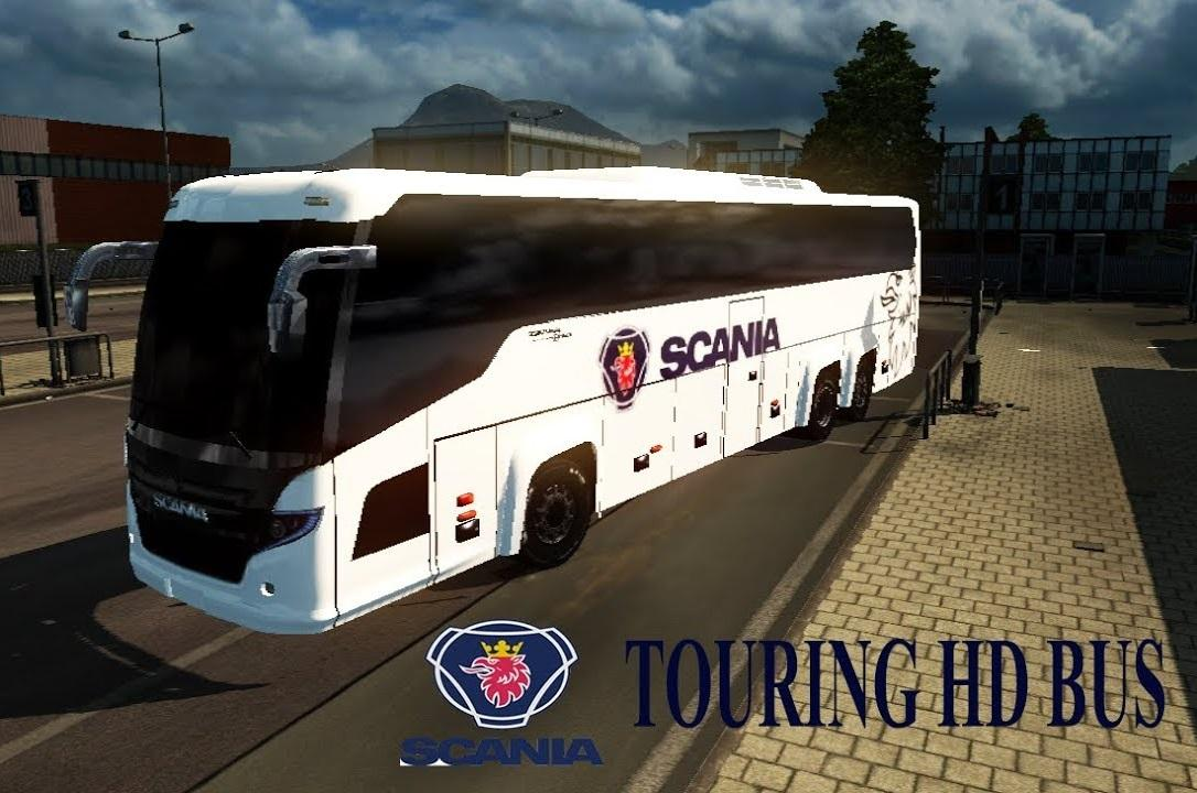 SCANIA TOURING HD BUS MOD V1 0 BUS FOR ETS2 -Euro Truck Simulator 2 Mods