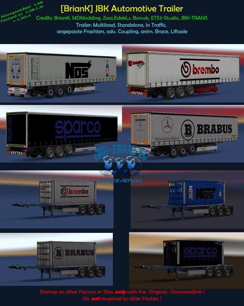 BRIANK] JBK-PACK AUTOMOTIVE V1 0 TRAILERS -Euro Truck