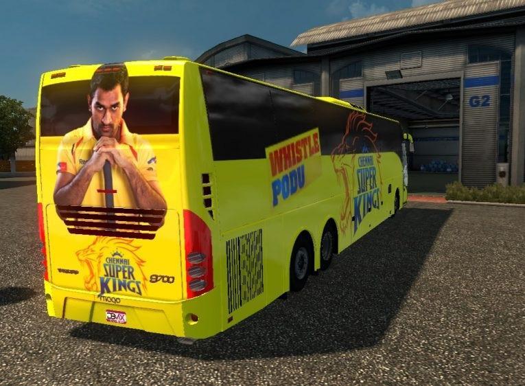 INDIAN VOLVO BUS IPL SKINS MOD -Euro Truck Simulator 2 Mods