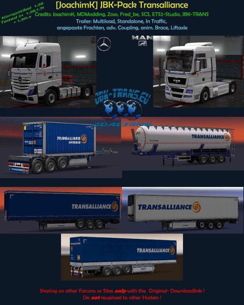 JOACHIMK] JBK-PACK TRANSALLIANCE V2 0 TRAILERS -Euro Truck