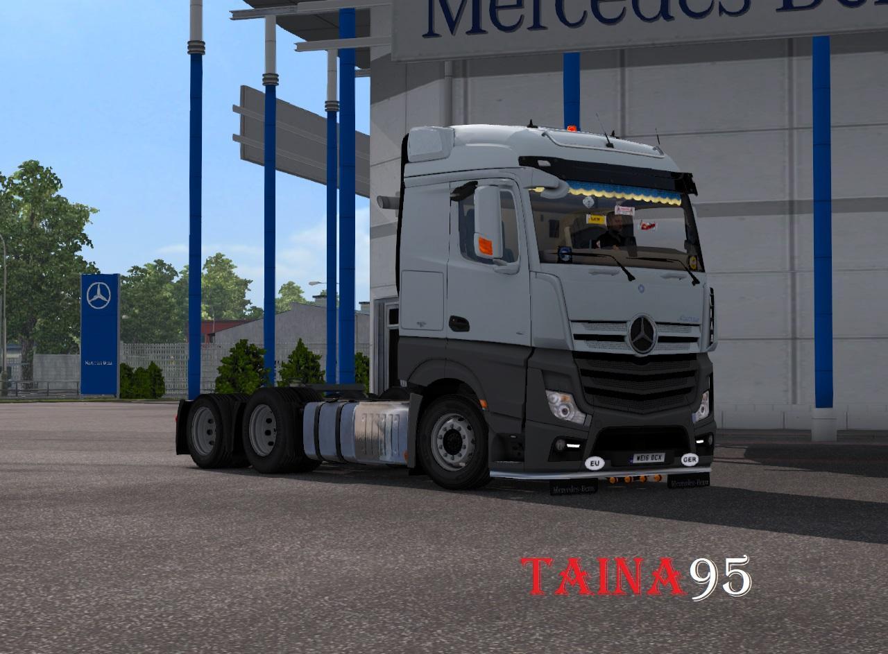 mercedes actros mp4 truck mod euro truck simulator 2 mods. Black Bedroom Furniture Sets. Home Design Ideas
