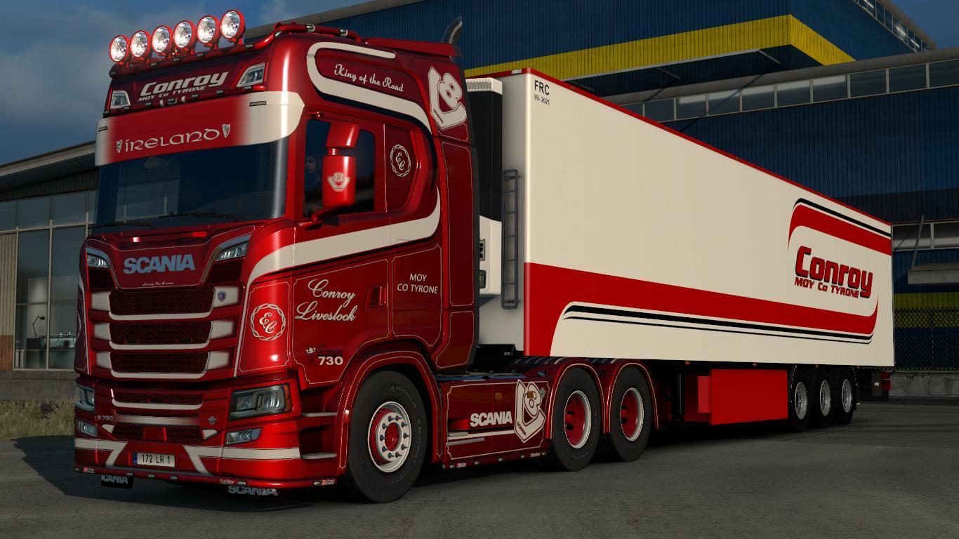 Semi Truck Accessories >> SKIN PACK CONROY LIVESTOCK V1.0 1.30.X MOD -Euro Truck Simulator 2 Mods