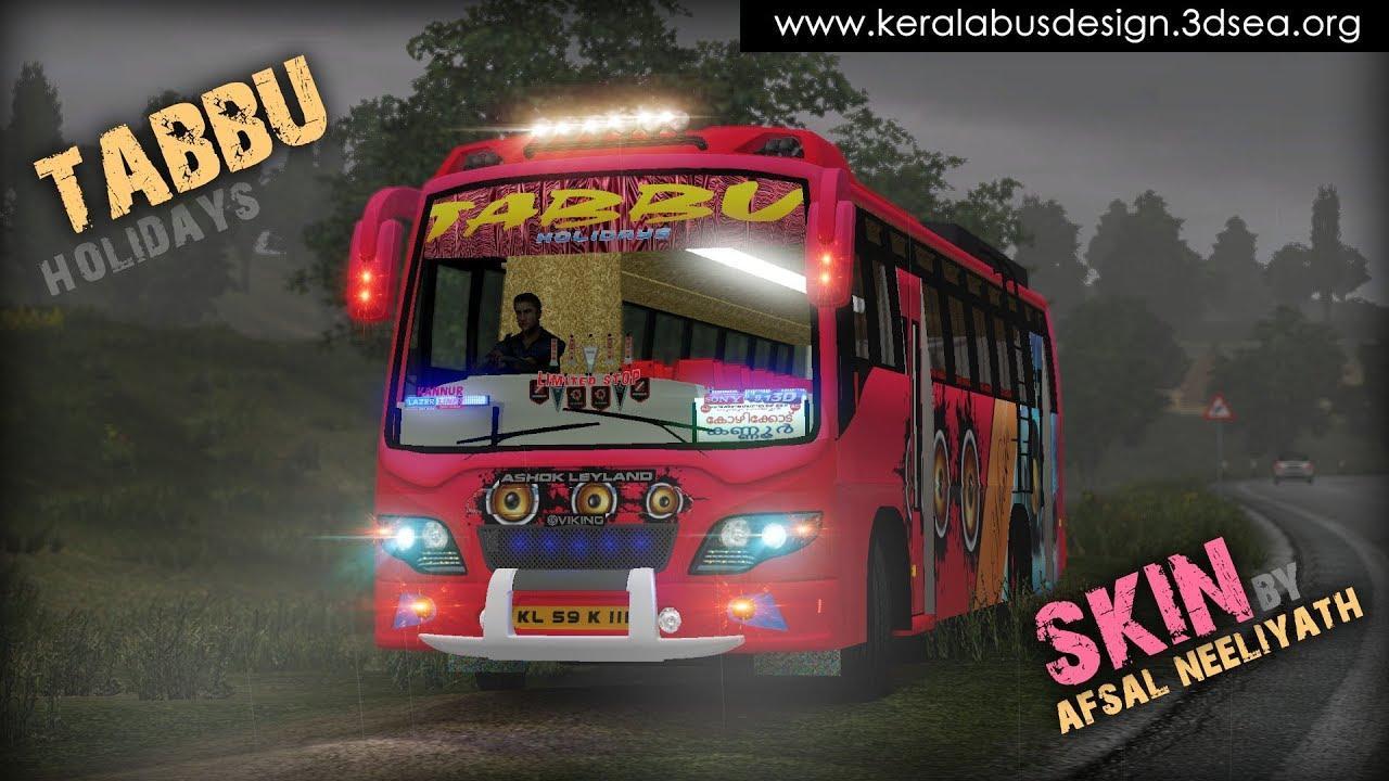TABBU SKIN FOR ASHOK LEYLAND V0 2 BUS SKIN -Euro Truck