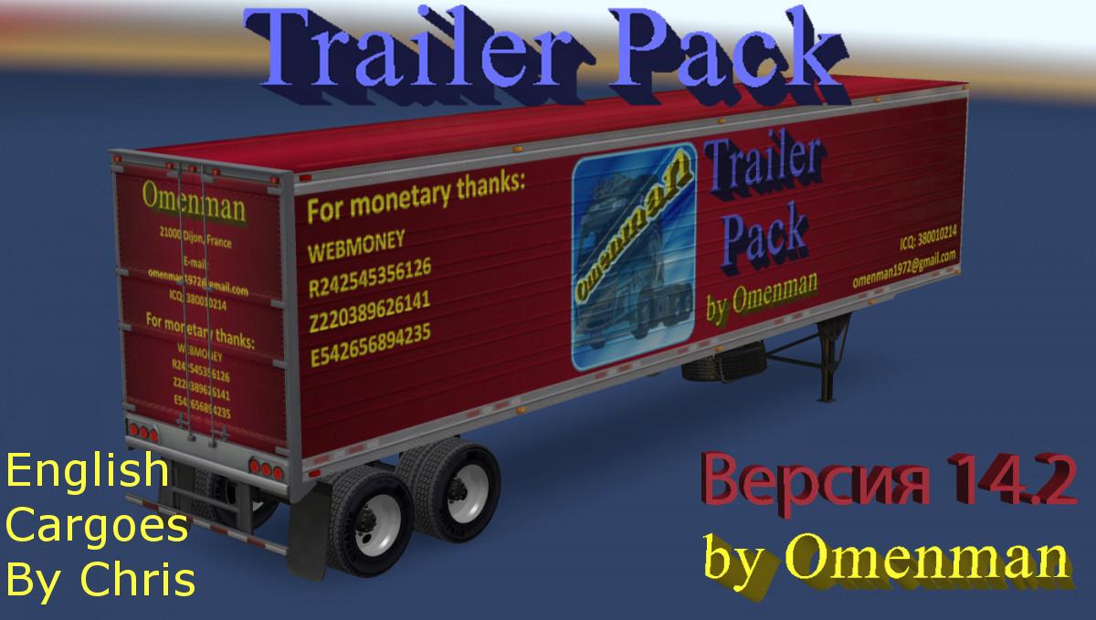 Trailer Pack by Omenman 14 2 – English addon ATS -Euro Truck