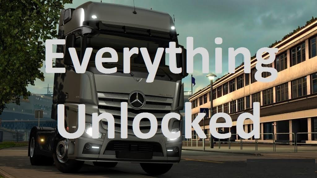 EVERYTHING UNLOCKED V1 0 MOD -Euro Truck Simulator 2 Mods