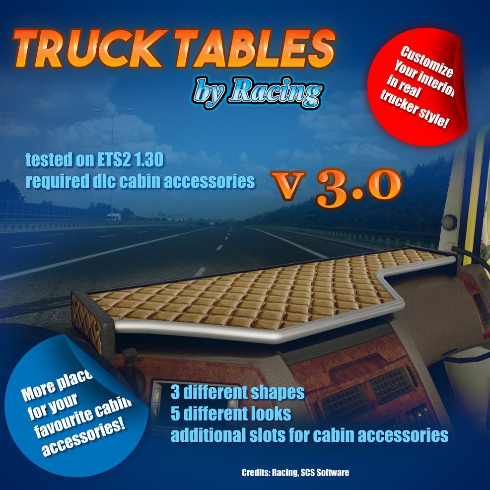 Truck tables by racing v3 0 tuning mod euro for 1 x 2 table