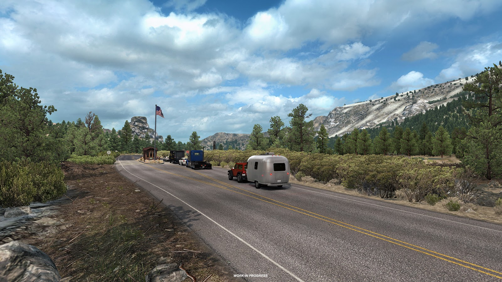american truck simulator tioga pass ats euro truck. Black Bedroom Furniture Sets. Home Design Ideas
