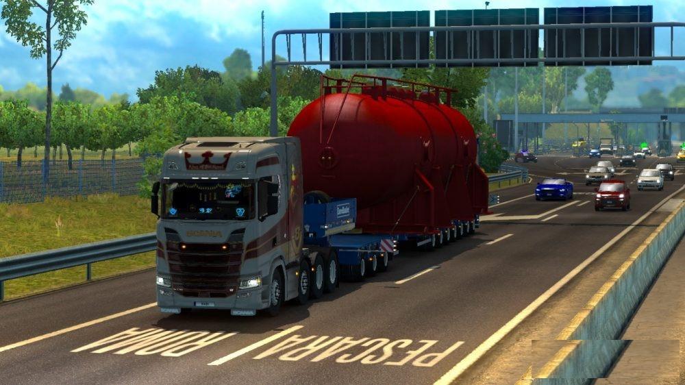 100 ton for special transport trailer mod euro truck. Black Bedroom Furniture Sets. Home Design Ideas