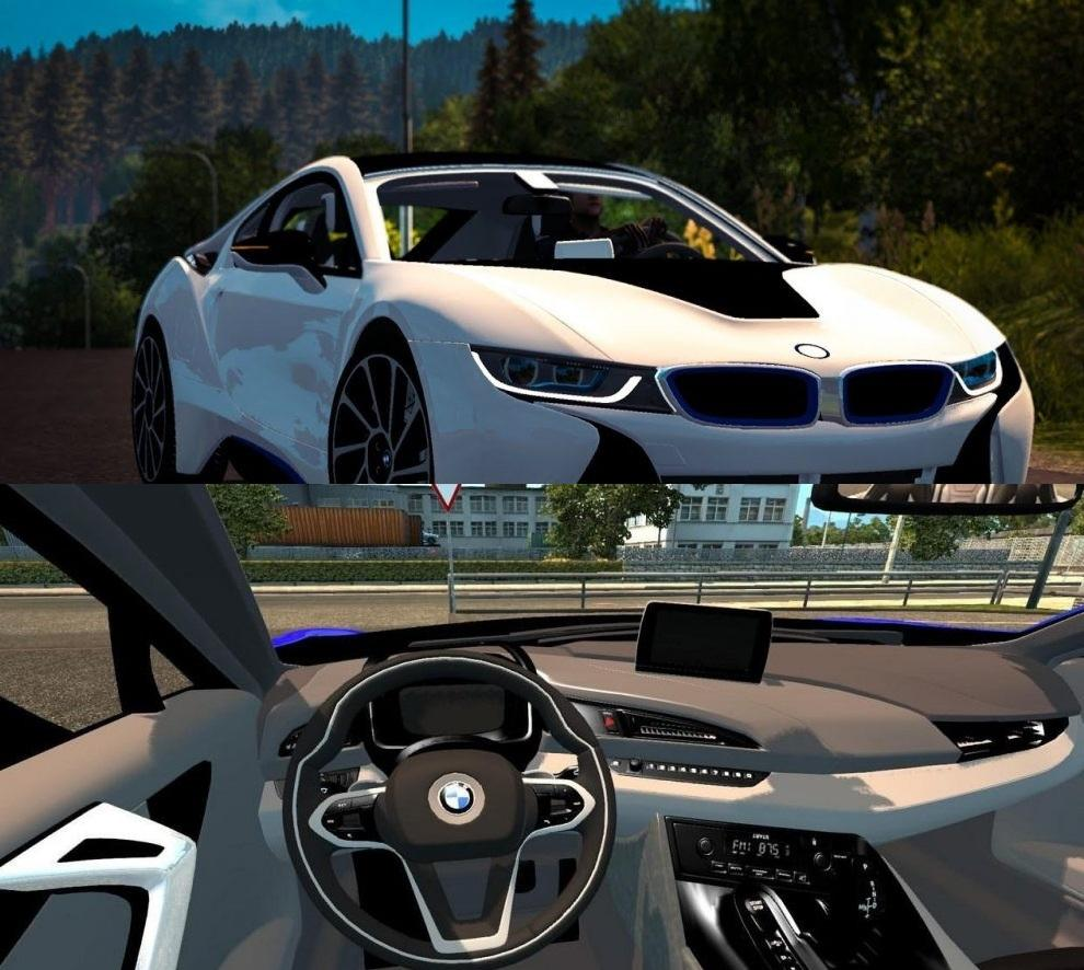 Bmw I8 1 31 Car Mod Euro Truck Simulator 2 Mods