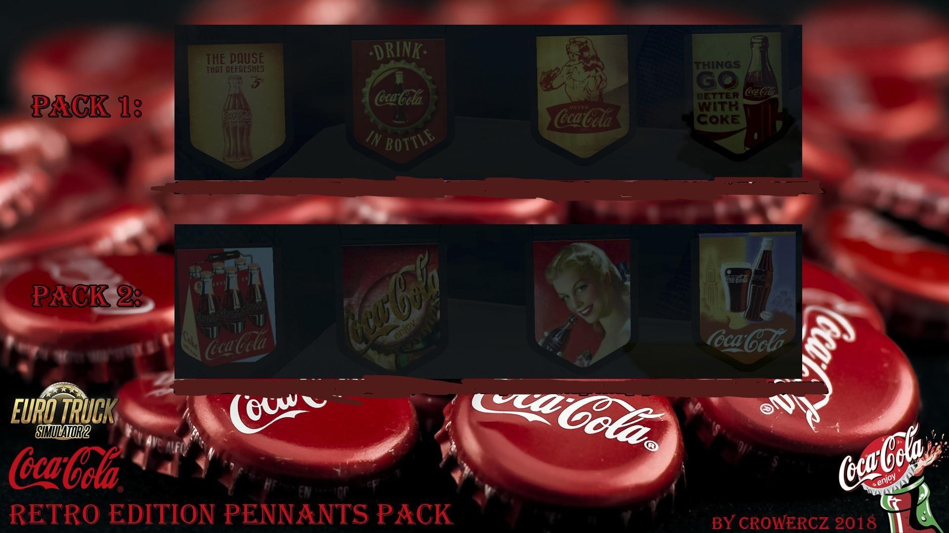 coca cola retro edition pennants pack v1 0 mod euro truck simulator 2 mods. Black Bedroom Furniture Sets. Home Design Ideas