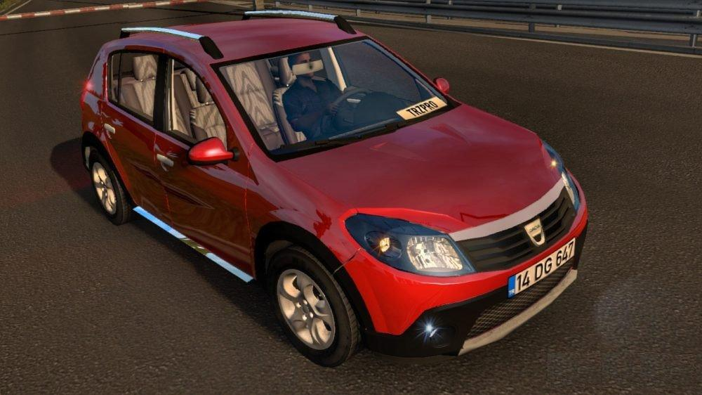 dacia sandero 2010 v1 0 car mod euro truck simulator 2 mods. Black Bedroom Furniture Sets. Home Design Ideas