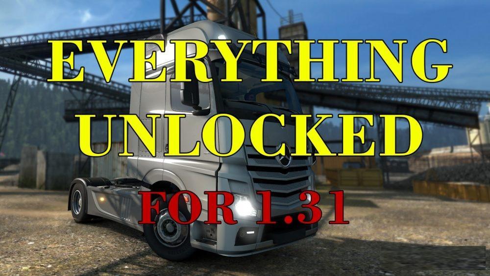 EVERTHING UNLOCKED 1 31 MOD -Euro Truck Simulator 2 Mods