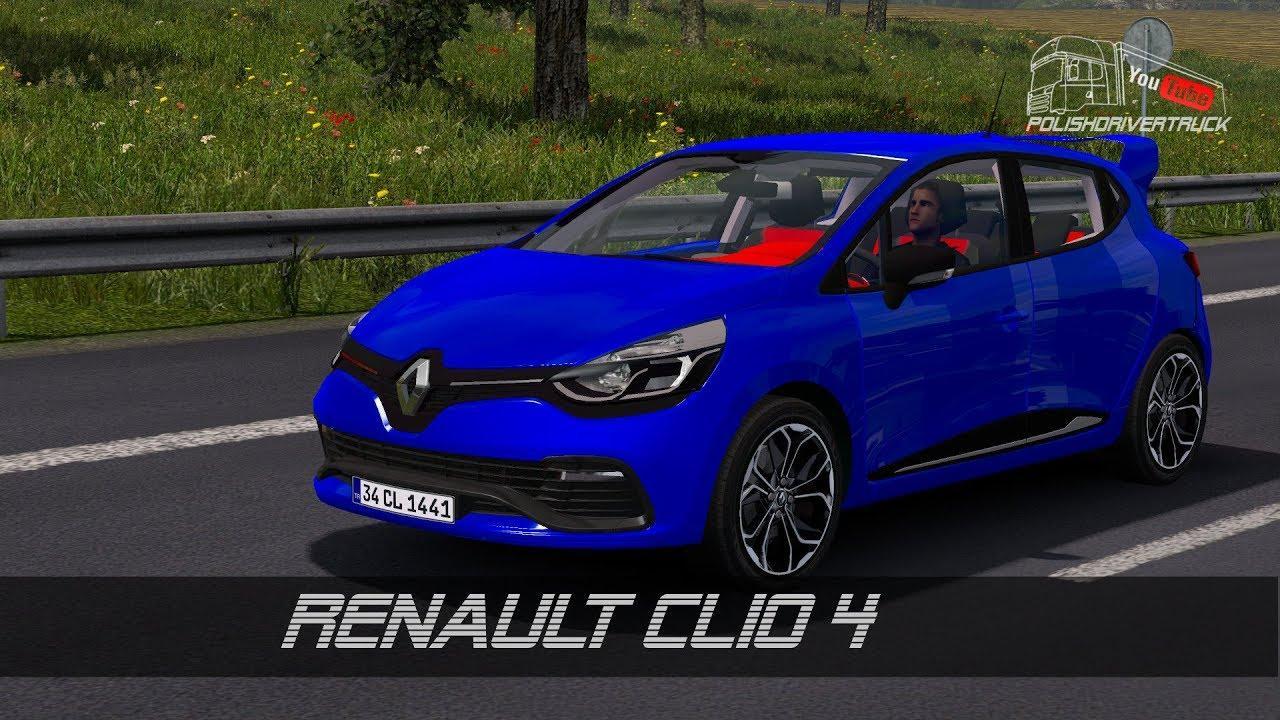 renault clio 4 v5 0 car mod euro truck simulator 2 mods. Black Bedroom Furniture Sets. Home Design Ideas