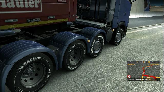 SCANIA R AND S 8X4 CHASSIS SCS SOFT UPDATED V1 0 TUNING MOD