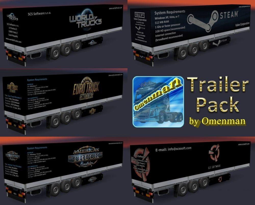 TRAILER PACK GAMES V1 01 01 ETS2 -Euro Truck Simulator 2 Mods