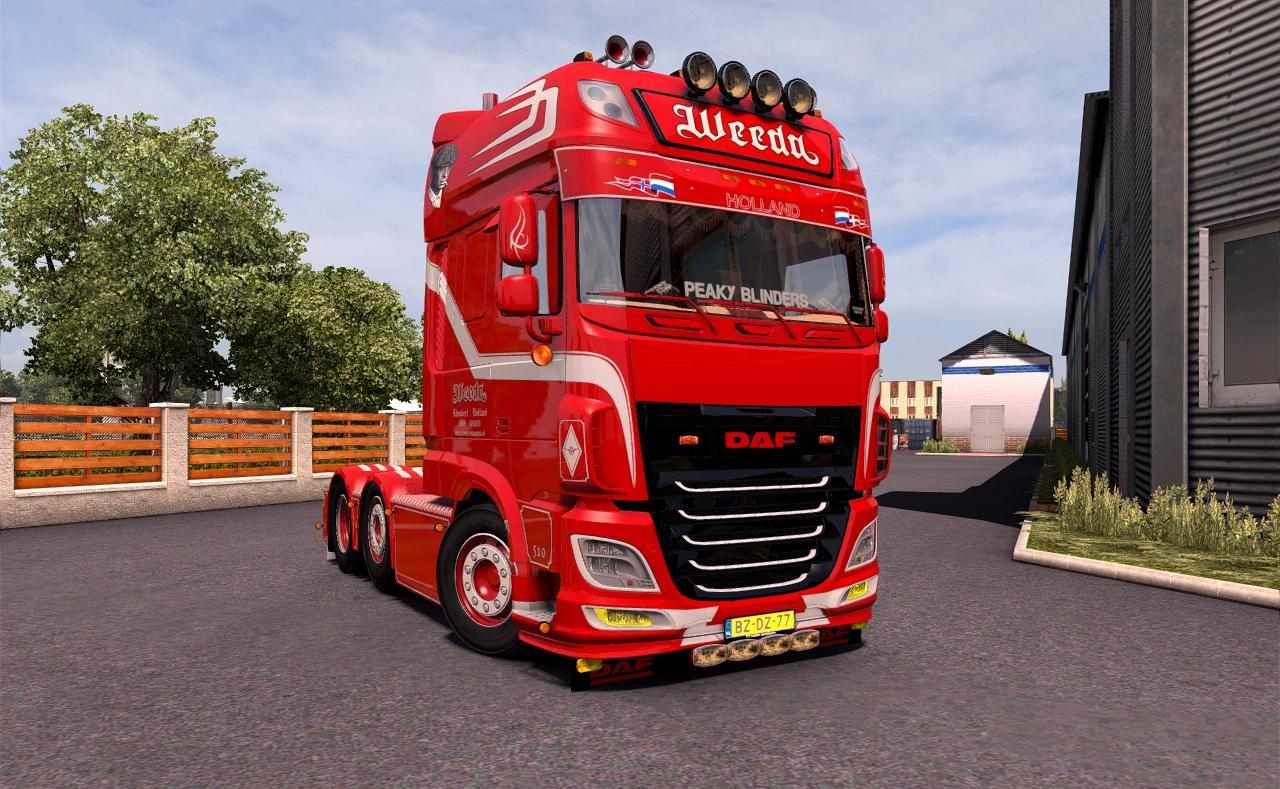 daf xf weeda 106 510 truck euro truck simulator. Black Bedroom Furniture Sets. Home Design Ideas