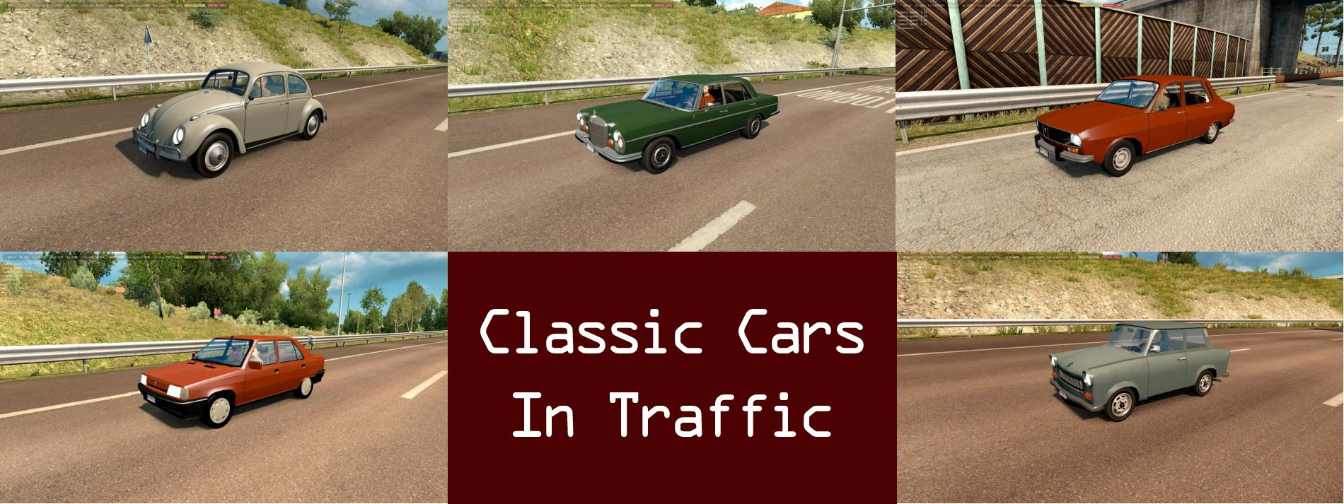 Classic Cars Ai Traffic Pack V  Mod