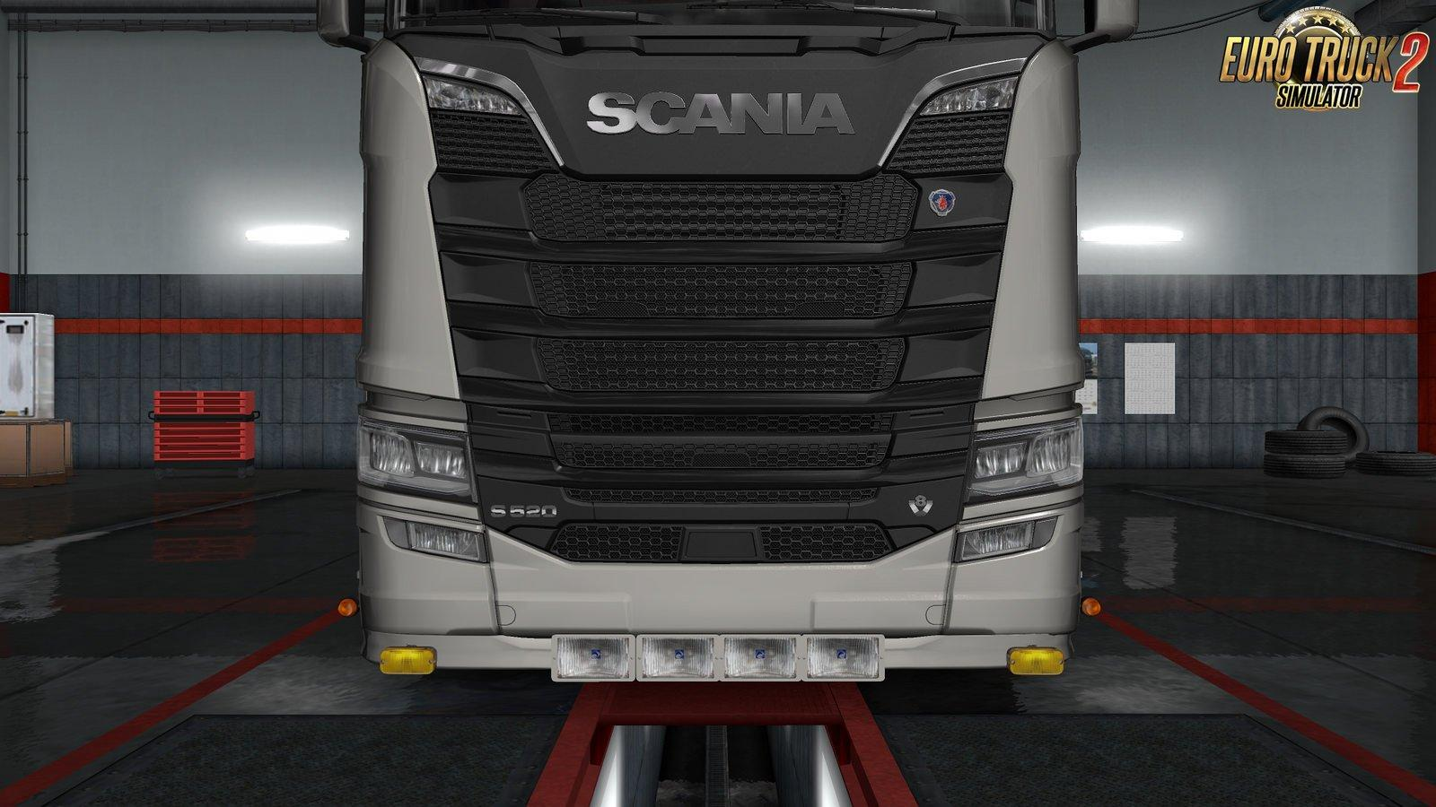 Scania S Amp R Extended Front Bumper 1 31 X Tuning Mod Euro