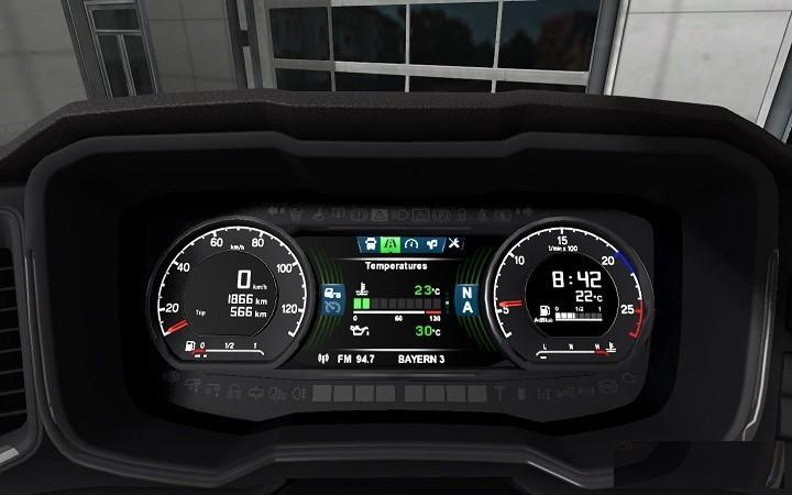 NEW GEN SCANIA DASHBOARD COMPUTER FIX FOR 1 32 INTERIOR MOD