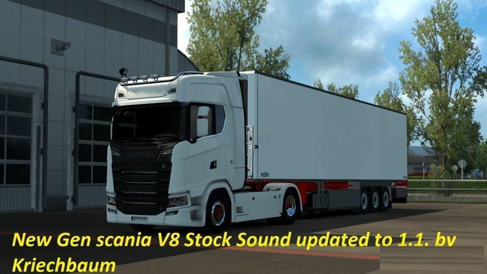 new gen scania v8 stock sound v1 1 ets2 euro truck simulator 2 mods