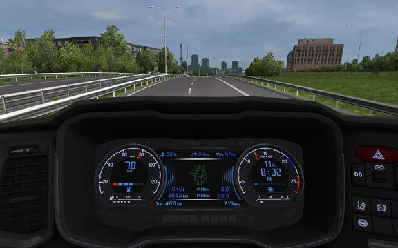 Scania S Dashboard Computer V1 2 2 1 32 X Mod Euro Truck
