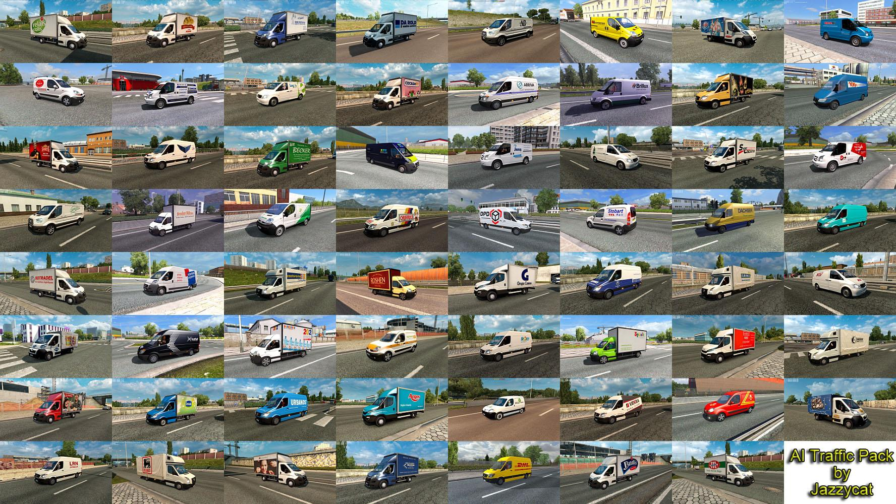 Ai Traffic Pack By Jazzycat V8 3 Traffic Mod For Ets2 Euro Truck Simulator 2 Mods