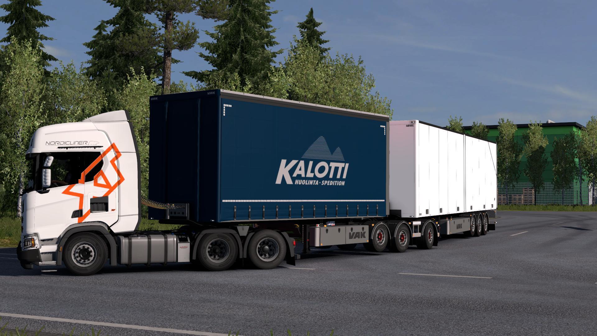 VAK TRAILERS V1.1 1.32.X ETS2 -Euro Truck Simulator 2 Mods