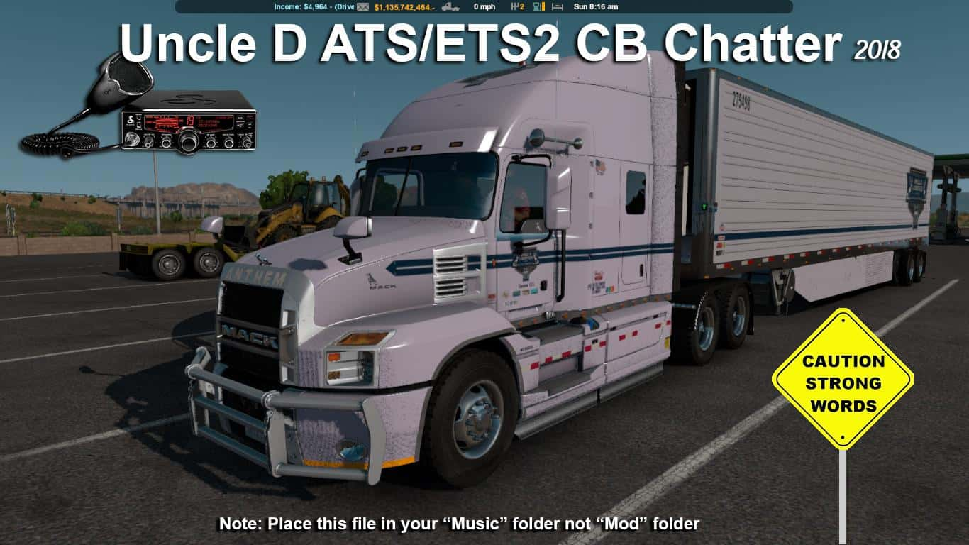 2018 Uncle D CB Chatter 1 32 x Mod -Euro Truck Simulator 2 Mods