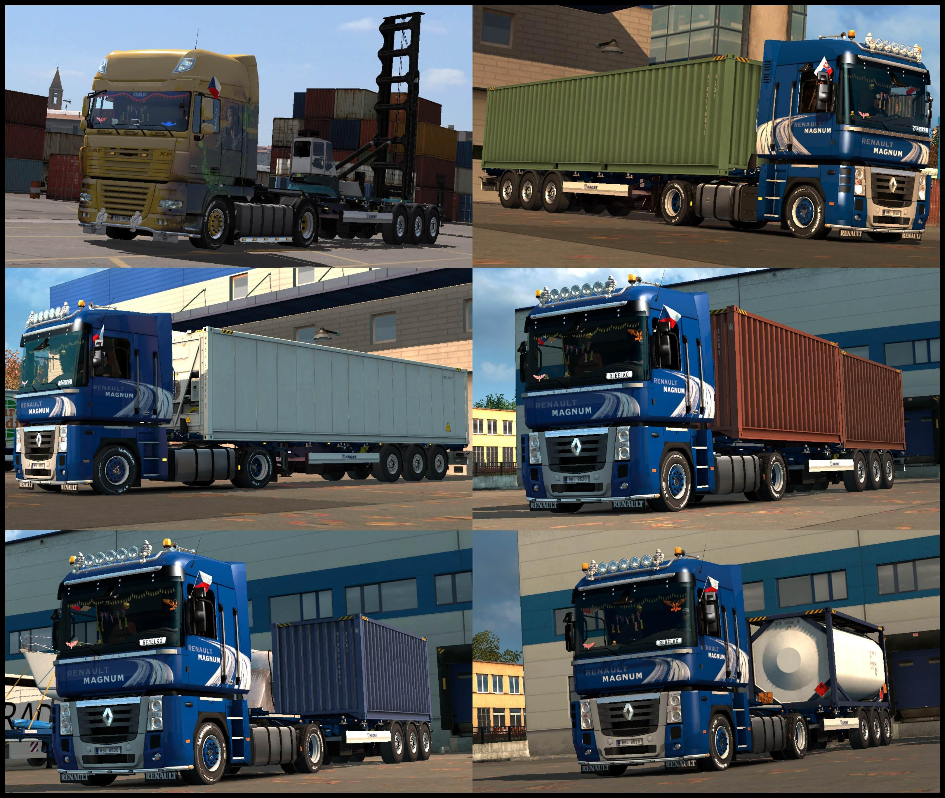 Gooseneck Trailers Owned V120 Ets2 Euro Truck Simulator 2 Mods Double Car Trailer 24 Foot Flatbed
