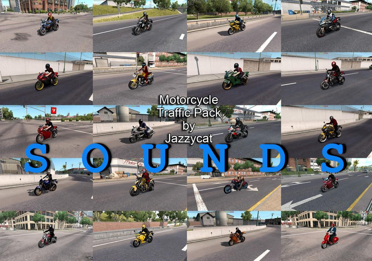 SOUNDS FOR MOTORCYCLE TRAFFIC PACK BY JAZZYCAT V1 6 ETS2